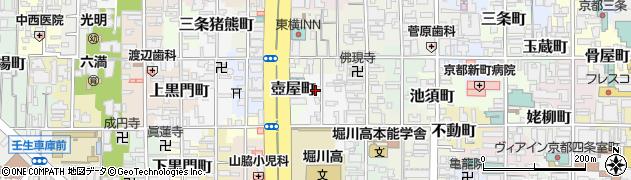 京都府京都市中京区越後突抜町周辺の地図