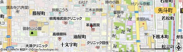 京都府京都市中京区坂井町周辺の地図