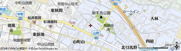 愛知県知立市山町(桜馬場)周辺の地図