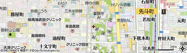 京都府京都市中京区中筋町周辺の地図