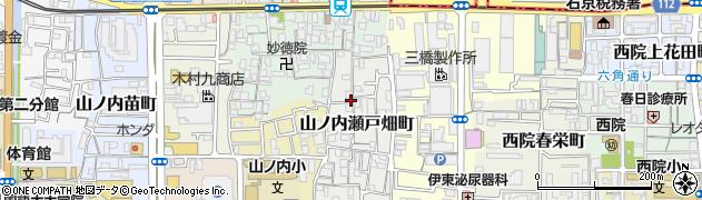 京都府京都市右京区山ノ内瀬戸畑町周辺の地図