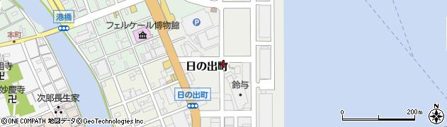 静岡県静岡市清水区日の出町周辺の地図