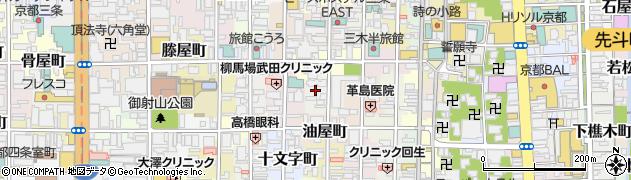 京都府京都市中京区骨屋之町周辺の地図