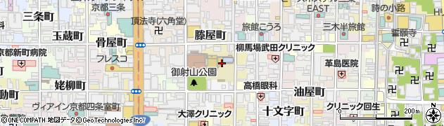 京都府京都市中京区和久屋町周辺の地図
