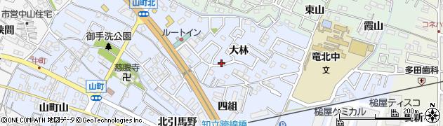 愛知県知立市山町周辺の地図