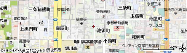 京都府京都市中京区元本能寺町周辺の地図