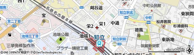愛知県知立市栄周辺の地図