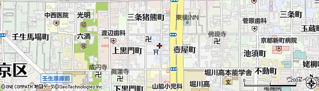 京都府京都市中京区岩上町周辺の地図