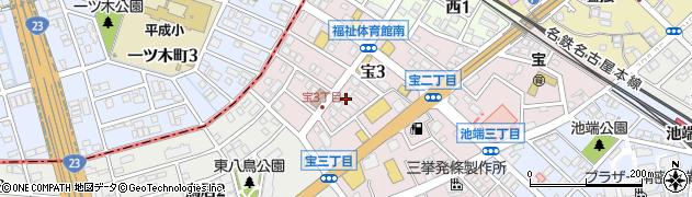 愛知県知立市宝周辺の地図
