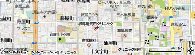 京都府京都市中京区井筒屋町周辺の地図