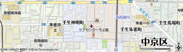 京都府京都市中京区壬生天池町周辺の地図
