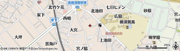 愛知県東海市高横須賀町(庭草)周辺の地図