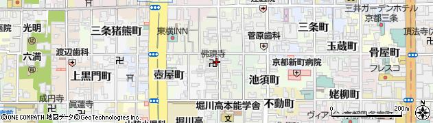 京都府京都市中京区六角油小路町周辺の地図