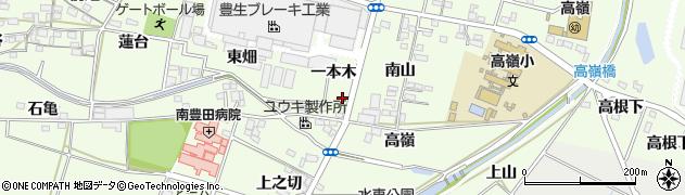 愛知県豊田市和会町(一本木)周辺の地図