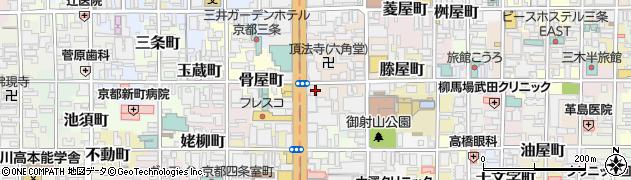 京都府京都市中京区堂之前町周辺の地図
