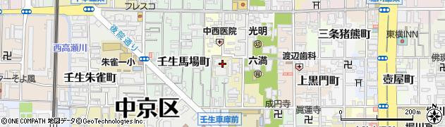 京都府京都市中京区因幡町周辺の地図