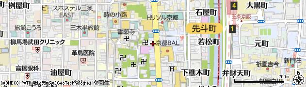 京都府京都市中京区山崎町周辺の地図
