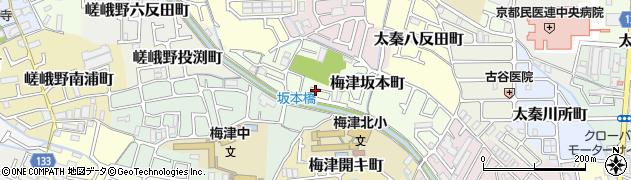 京都府京都市右京区梅津坂本町周辺の地図