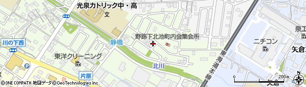 滋賀県草津市野路町周辺の地図