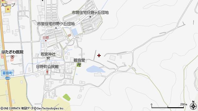 〒677-0013 兵庫県西脇市日野町の地図