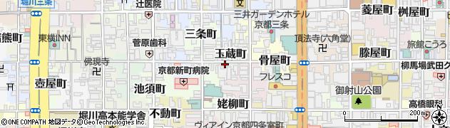 京都府京都市中京区玉蔵町周辺の地図