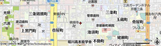 京都府京都市中京区本能寺町周辺の地図