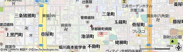 京都府京都市中京区西六角町周辺の地図