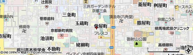 京都府京都市中京区骨屋町周辺の地図