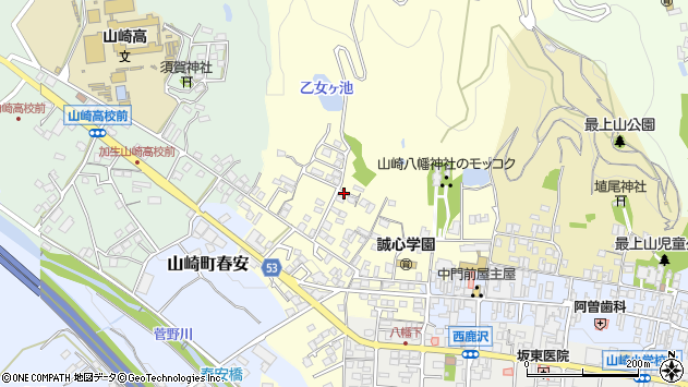 〒671-2579 兵庫県宍粟市山崎町門前の地図