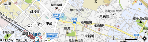 愛知県知立市中町(中)周辺の地図