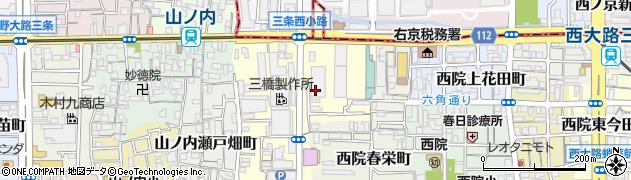 京都府京都市右京区西院金槌町周辺の地図