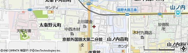 京都府京都市右京区山ノ内荒木町周辺の地図