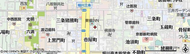 京都府京都市中京区越後町周辺の地図