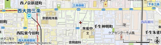京都府京都市中京区壬生中川町周辺の地図
