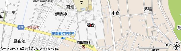 愛知県豊田市畝部西町(蓮台)周辺の地図