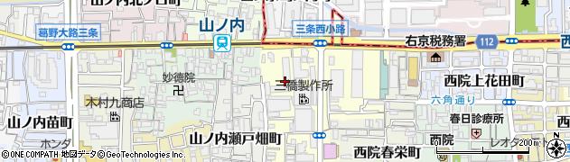 京都府京都市右京区山ノ内養老町周辺の地図