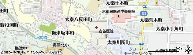 京都府京都市右京区太秦百合ケ本町周辺の地図