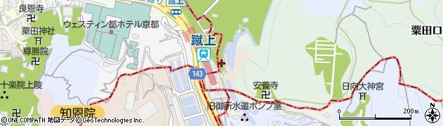 京都府京都市左京区粟田口山下町周辺の地図