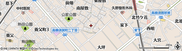 愛知県東海市高横須賀町(辰巳屋敷)周辺の地図