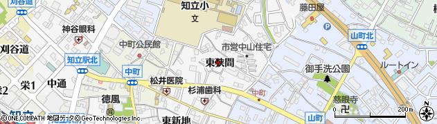 愛知県知立市中山町(東狭間)周辺の地図