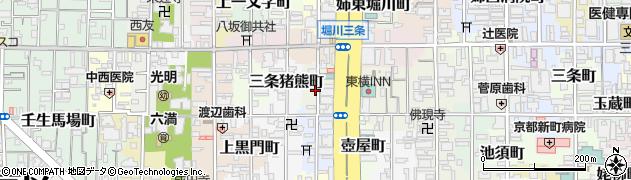 京都府京都市中京区下八文字町周辺の地図