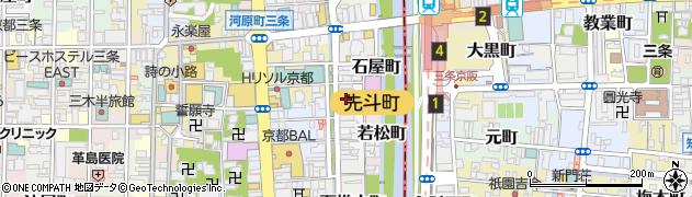 京都府京都市中京区材木町周辺の地図