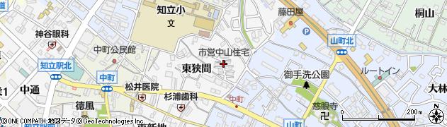 愛知県知立市中山町周辺の地図