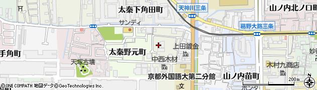 京都府京都市右京区太秦木ノ下町周辺の地図
