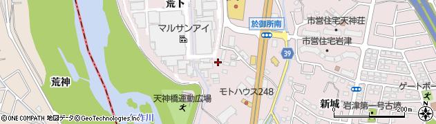 愛知県岡崎市仁木町(荒下)周辺の地図
