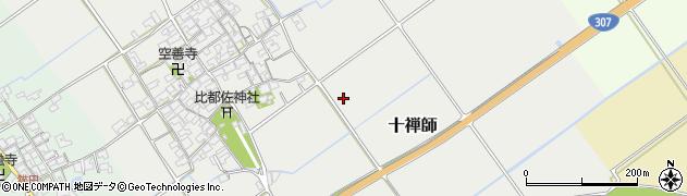 滋賀県日野町(蒲生郡)十禅師周辺の地図