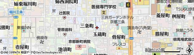京都府京都市中京区了頓図子町周辺の地図