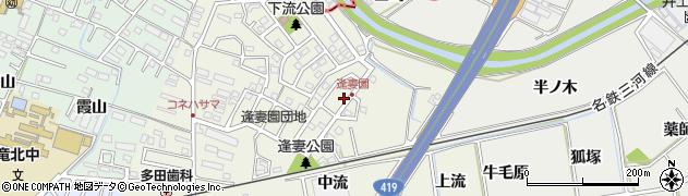 愛知県知立市牛田町(中流)周辺の地図
