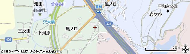 京都府亀岡市曽我部町重利(風ノ口)周辺の地図