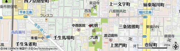 京都府京都市中京区今新在家東町周辺の地図